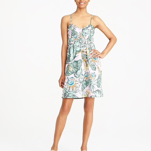 J. Crew Factory Dresses & Skirts - J.Crew Factory Printed poplin cami Mini Dress